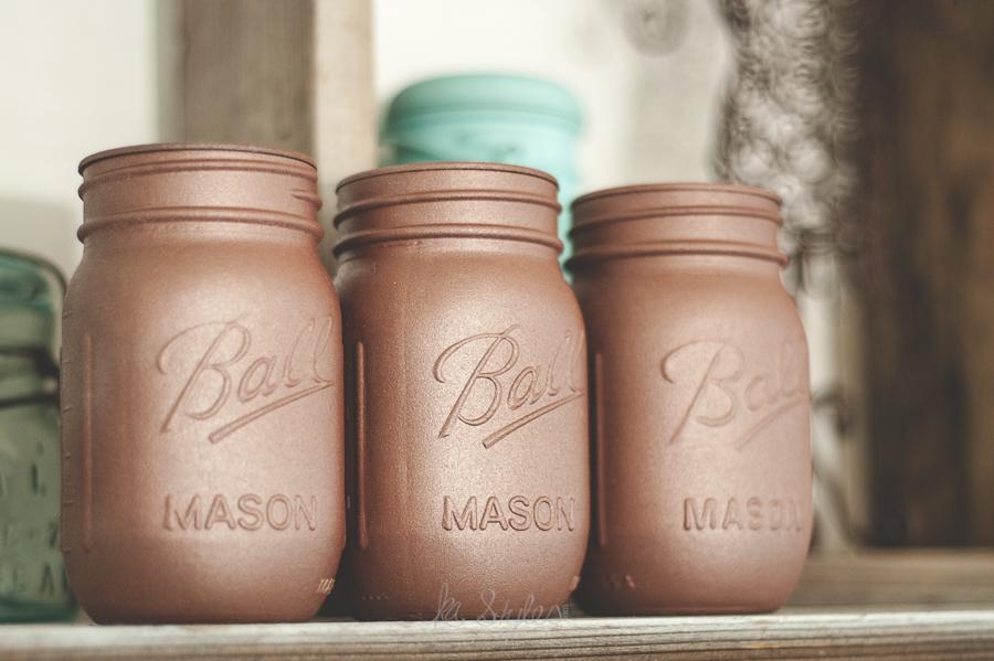Plasti Dip Mason jars. Rose gold.