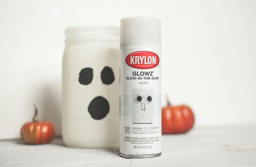 Glow in the dark Ghost Mason Jar
