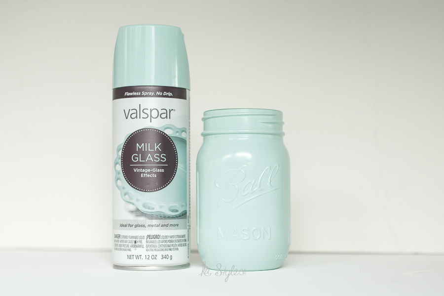 Valspar Milk Glass spray paint.