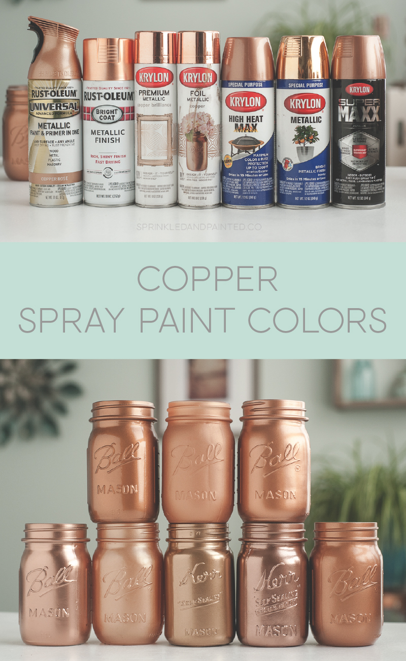 Copper spray paint colors. Rustoleum and Krylon.