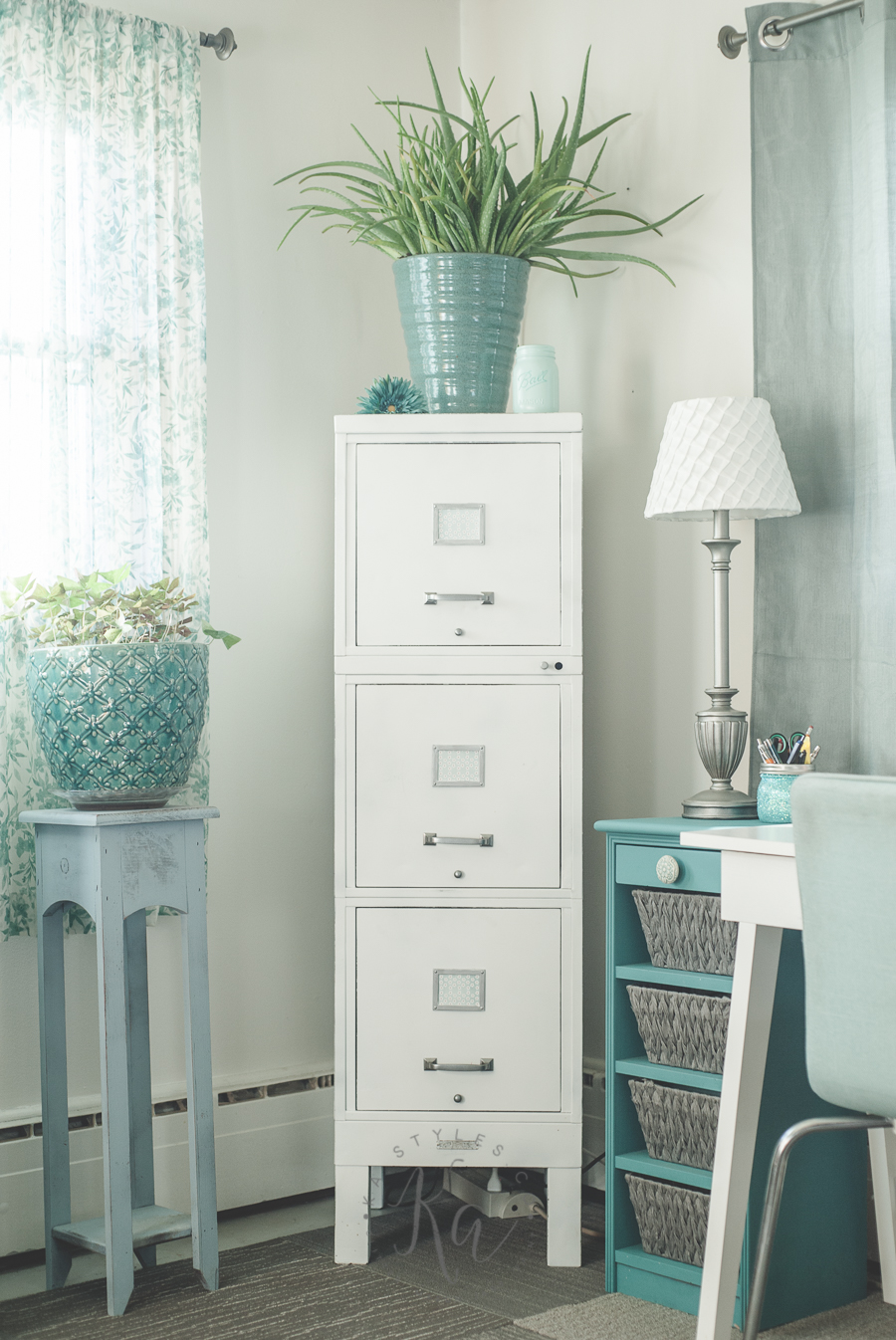 Krylon chalky finish spray paint 100 year old file cabinet makeover. & My 100 Year Old File Cabinet Makeover - KA Styles