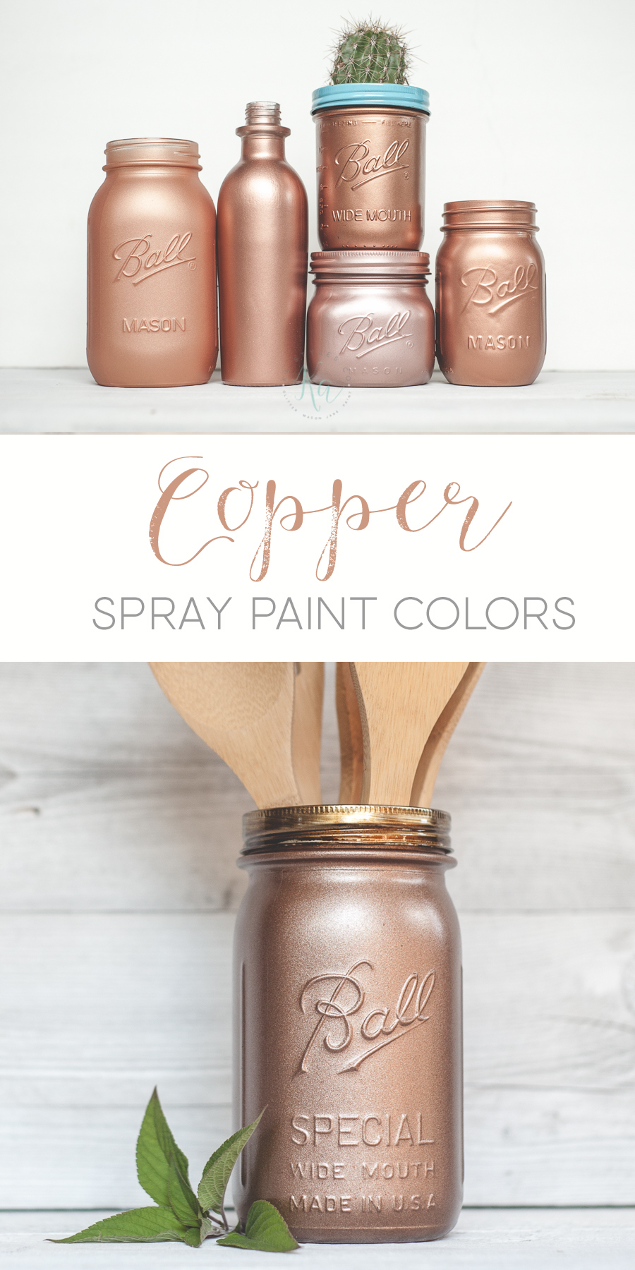 Copper spray paint colors. Rust-oleum and Krylon color samples.