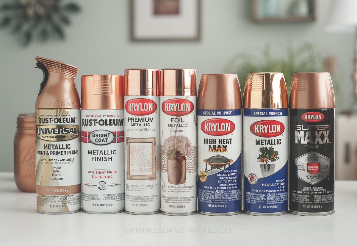 copper spray paint colors