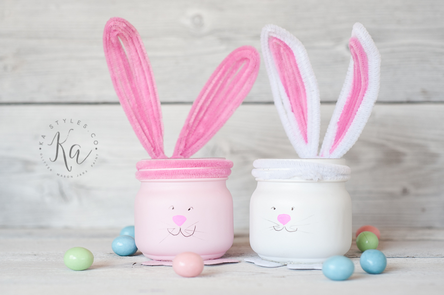 Easter Mason Jars, Bunny and Chic