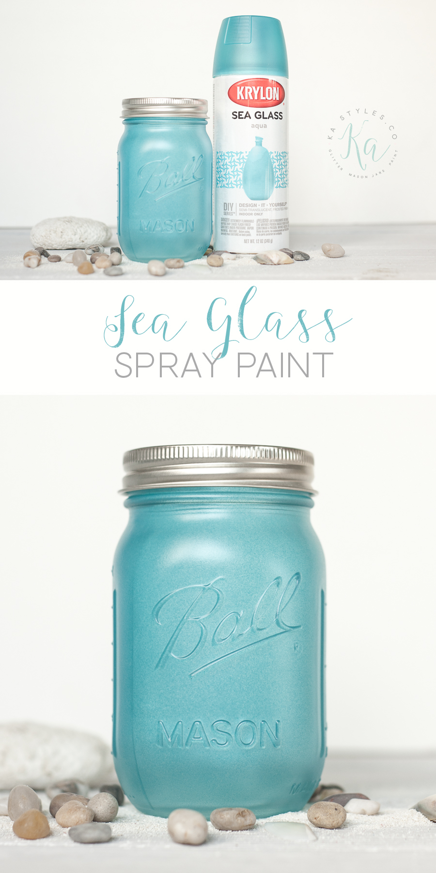 Krylon Sea Glass spray paint.