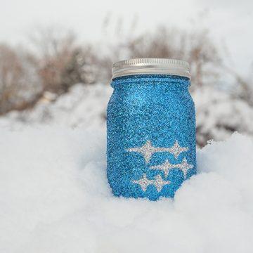 Subaru-WRX Glitter Mason Jar