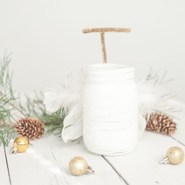 Yarn Wrapped Angel Mason Jar