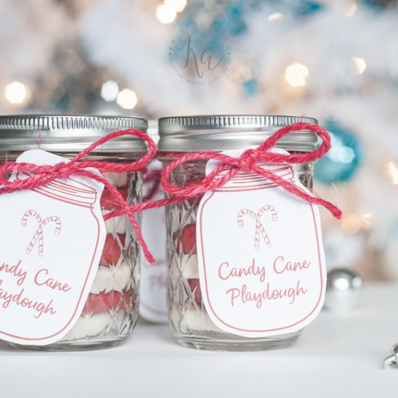 Homemade Candy Cane Playdough
