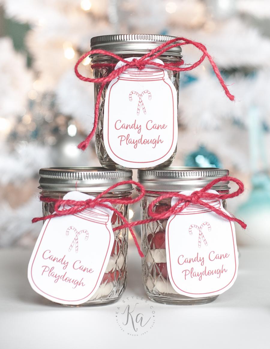 Homemade Candy Cane Playdough - KA Styles