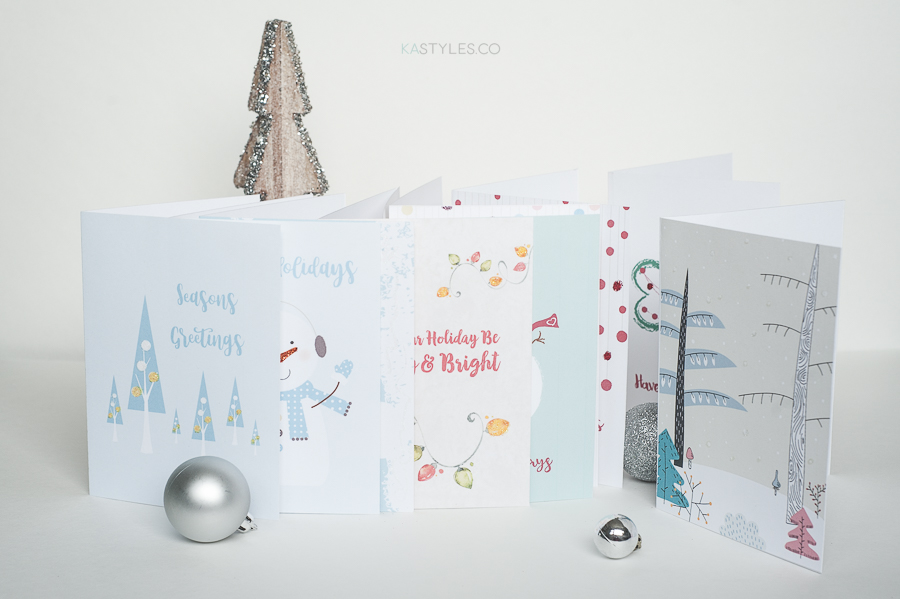 Printable holiday greeting cards.