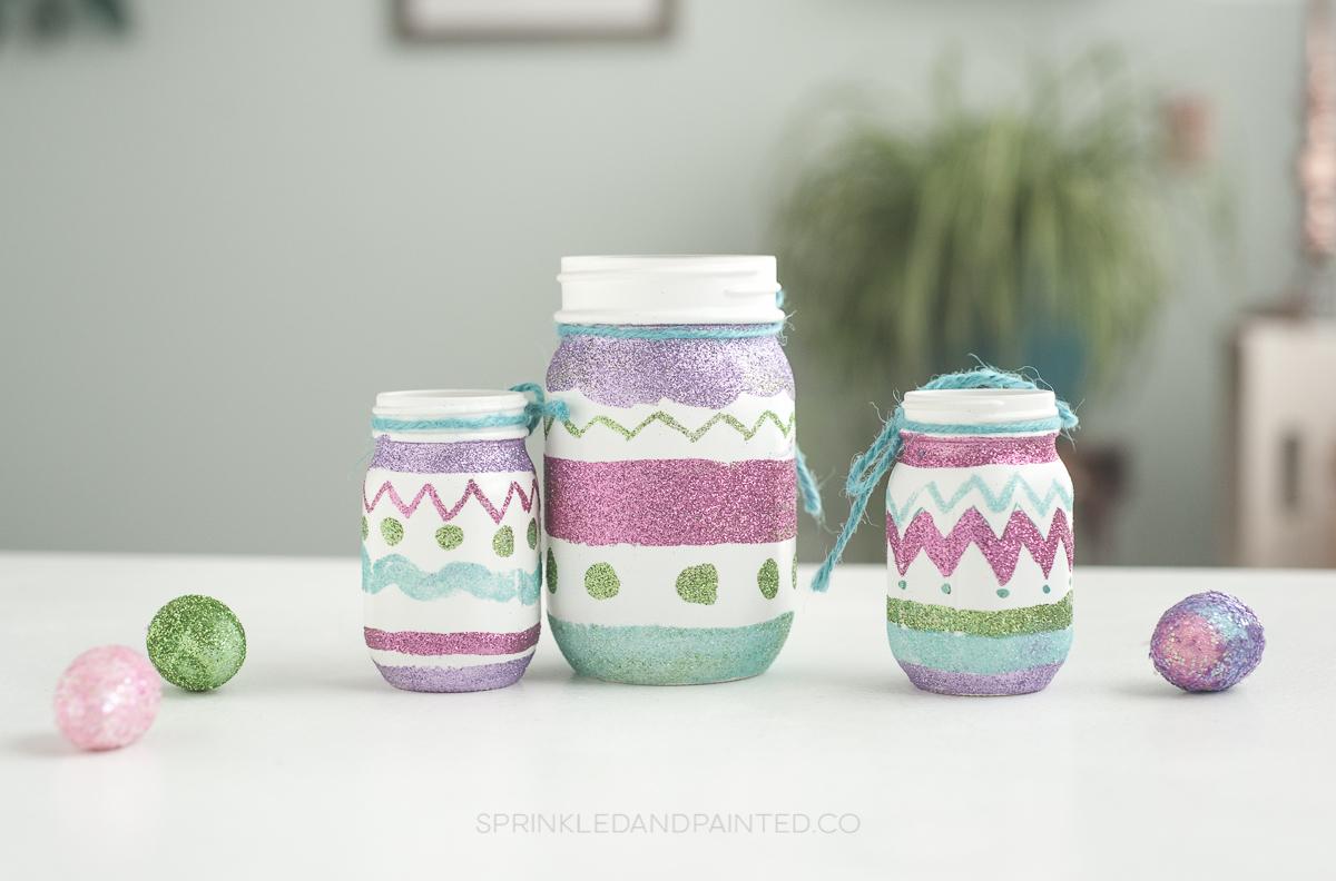 Glitter Easter Egg Mason Jars Ka Styles