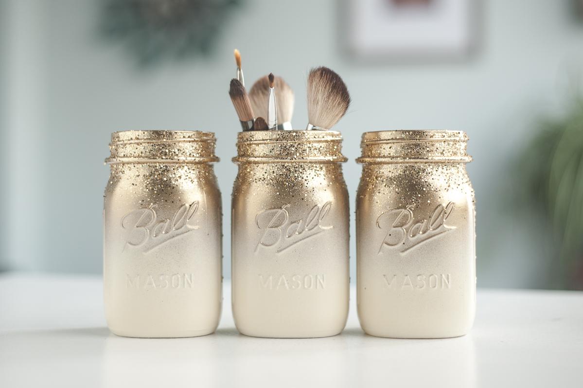 Image Of Spray Painted Mason Jars How To Spray Paint Jars