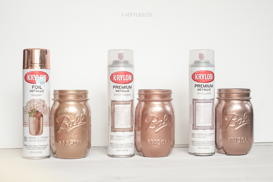 Krylon White Copper, Dusty Pink & Foil Metallic Copper. Rust-oleum Too!