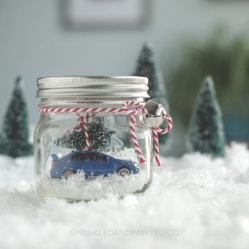 Subaru WRX Sti in A Mason Jar Christmas Decor