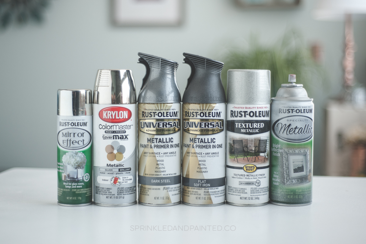 Silver spray paint colors Rustoleum and Krylon