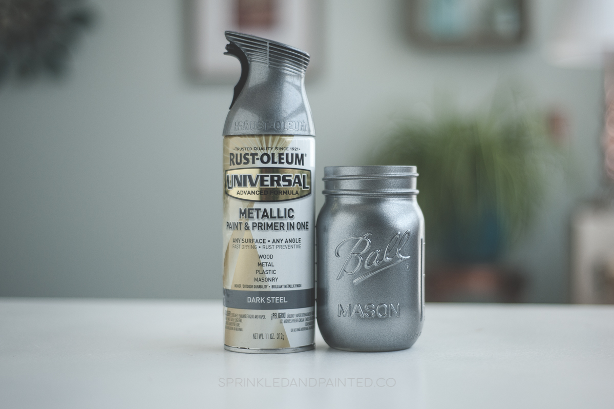 Rustoleum silver spray paint