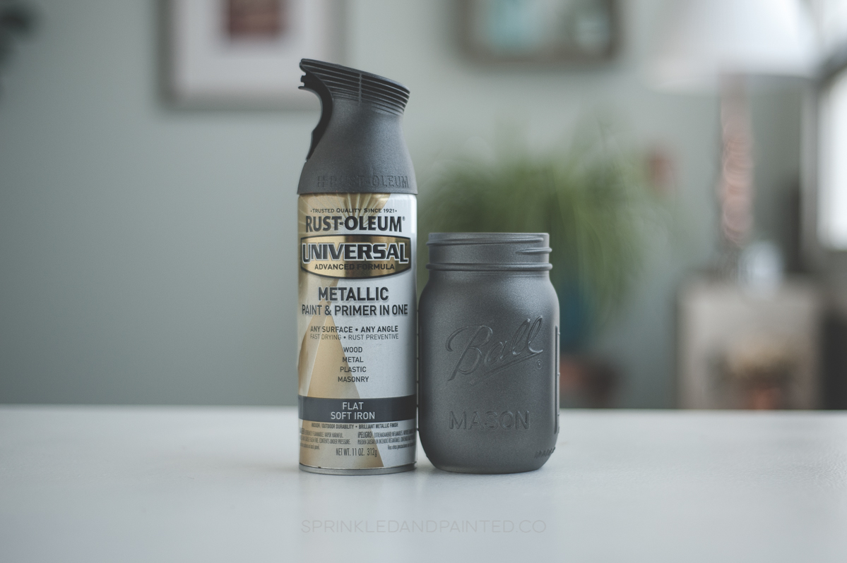 Silver spray paint colors Rustoleum and Krylon, dark silver