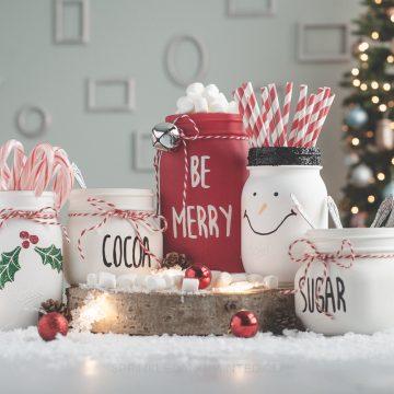 Mason Jar Hot Cocoa Bar