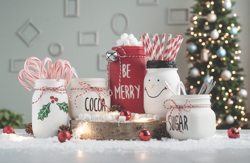 Mason Jar Hot Cocoa Bar