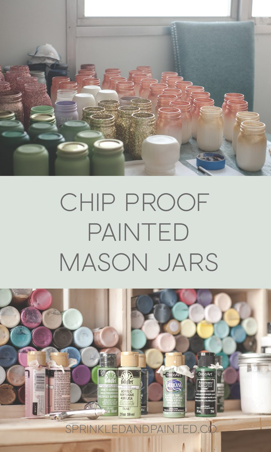 Chip proof painted mason jars.