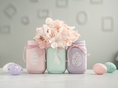 Easter mason jar decor