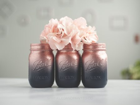 Rose gold and navy wedding or party.