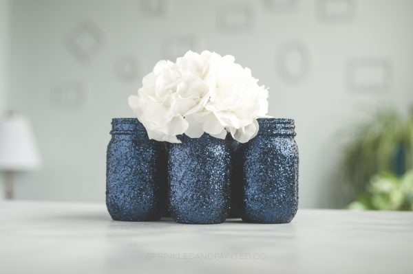 Navy blue wedding or party vases