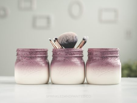 Plum desk organizer jars