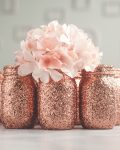 Rose gold wedding vases