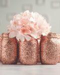 Rose gold wedding vases
