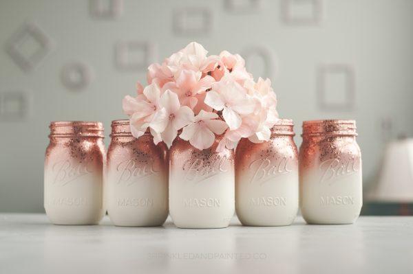 Ombre mason jars vases