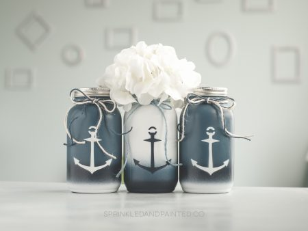 Boat anchor decor vases