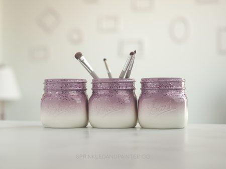 Plum purple organizer jars