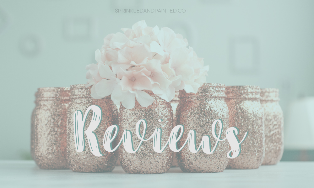 reviews for Sprinkled and Painted mason jars