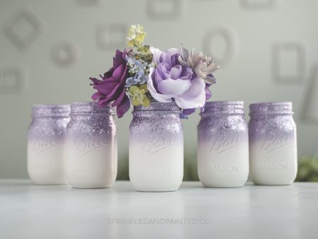 Light purple wedding vases